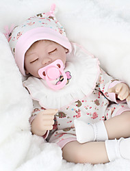 cheap -NPKCOLLECTION NPK DOLL Reborn Doll Baby 18 inch Silicone Vinyl - lifelike Cute Hand Made Child Safe Non Toxic Lovely Kid's Girls' Toy Gift / Parent-Child Interaction / CE Certified / Floppy Head