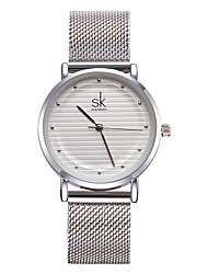 cheap -SK Women's Bracelet Watch Quartz Ladies Water Resistant / Waterproof Analog Gold Silver / Metal / Two Years / Shock Resistant / Two Years / Sony-SR626SW