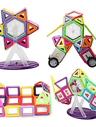 cheap -Magnetic Blocks Magnetic Tiles Building Blocks 113 pcs Architecture Covers New Design Geometric Pattern Hand-made Decompression Toys Classic & Timeless Geometric Pattern All Boys' Girls' Toy Gift