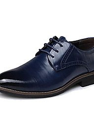 cheap -Men's Formal Shoes Leather / Cowhide Spring / Fall Oxfords Black / Yellow / Blue / Party & Evening / Split Joint / Party & Evening / EU40