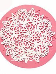 Недорогие -кружева силиконовые формы сахар ремесло помадная коврик выпечки плесень инструмент для украшения торта