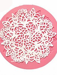 cheap -Lace Silicone Mold Sugar Craft Fondant Mat Baking Mould Cake Decorating Tool