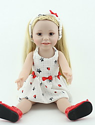 cheap -NPKCOLLECTION NPK DOLL Reborn Doll Girl Doll Baby Girl 20 inch Silicone Vinyl - lifelike Cute Hand Made Child Safe Non Toxic Lovely Kid's Girls' Toy Gift / Parent-Child Interaction / CE Certified