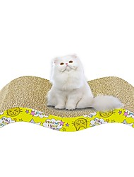 cheap -Scratch Art Paper & Papercrafting Cat Cat Toy One-piece Suit Multi Color Scratch Pad Help to lose weight Catnip Cardboard Paper Gift Pet Toy Pet Play