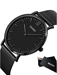 cheap -Men's Sport Watch Smartwatch Wrist Watch Quartz Metal Multi-Colored 50 m Calendar / date / day LED Cool Analog Charm Classic Casual Fashion Minimalist - Black Black / Silver Rose Gold / White Two