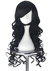 cheap -Cosplay Wigs Women's 30 inch Heat Resistant Fiber Black Anime / Princess Lolita