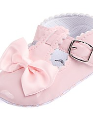 cheap -Girls' Comfort / First Walkers / Crib Shoes Leatherette Flats Bowknot / Magic Tape Red / Royal Blue / Dusty Rose Spring