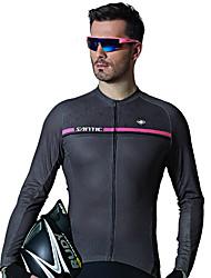 cheap -SANTIC Men's Long Sleeve Cycling Jersey Winter Polyester Pearl Grey Bike Jersey Top Mountain Bike MTB Road Bike Cycling Sports Clothing Apparel / Advanced / Advanced / Italian Ink
