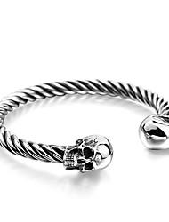 cheap -Men's Bracelet Bangles Hip-Hop Stainless Steel Bracelet Jewelry Silver For Daily