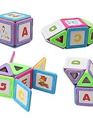 cheap -Magnetic Blocks Magnetic Tiles Building Blocks 40 pcs Architecture Covers New Design Geometric Pattern Hand-made Decompression Toys Classic & Timeless Geometric Pattern All Boys' Girls' Toy Gift