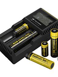 Недорогие -Nitecore UM20 Зарядное устройство 5 V для Литий-ионная Smart USB ЖК экран Обнаружение сети Защищенная сеть 18650,18490,18350,17670,17500,16340(RCR123), 14500,10440 Отдых и Туризм / Рыбалка