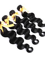 cheap -4 Bundles Brazilian Hair Body Wave Human Hair Natural Color Hair Weaves / Hair Bulk Human Hair Weaves Human Hair Extensions / 8A