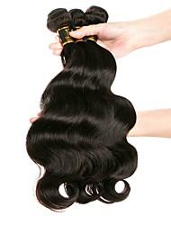 Недорогие -3 Связки Бразильские волосы Свободные волны Не подвергавшиеся окрашиванию Человека ткет Волосы Ткет человеческих волос 8а Расширения человеческих волос / 10A