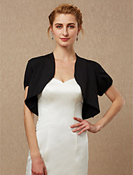 cheap -Short Sleeve Spandex Wedding / Party / Evening Women's Wrap With Shrugs