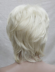 cheap -new blonde with off black mix blonde root medium length cascaded layers synthetic hair women s full wig
