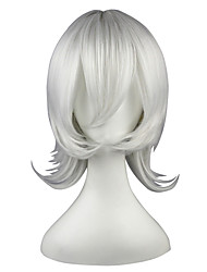 cheap -Synthetic Wig Straight Kardashian Straight Wig 13cm(Approx5inch) Silver Synthetic Hair White