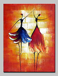 cheap -Mintura® Hand-Painted Abstract Ballerina Oil Paintings On Canvas Modern Wall Art Picture For Home Decoration Ready To Hang