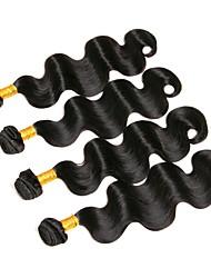 cheap -4 Bundles Brazilian Hair Body Wave Virgin Human Hair Natural Color Hair Weaves / Hair Bulk Human Hair Weaves Human Hair Extensions / 10A