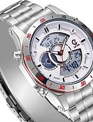 Недорогие -Жен. Все Спортивные часы Кварцевый Нержавеющая сталь Черный / Белый 30 m Защита от влаги Календарь Секундомер Аналого-цифровые Дамы Роскошь На каждый день Мода - Белый Красный Синий