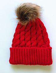 Недорогие -Широкополая шляпа Хлопок Осень Зима Черный Винный Белый
