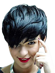 cheap -Human Hair Capless Wigs Human Hair Natural Wave Pixie Cut / Short Hairstyles 2019 Halle Berry Hairstyles Side Part Machine Made Wig