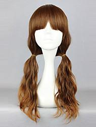 cheap -Cosplay Wigs Men's Women's 24 inch Heat Resistant Fiber Brown Anime