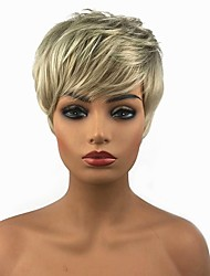 cheap -Synthetic Wig Straight Straight Pixie Cut Wig Blonde 13cm(Approx5inch) Blonde Synthetic Hair Blonde StrongBeauty