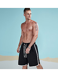 cheap -Men's Active Daily Sports Chinos / Shorts Pants - Solid Colored / Striped Cotton Black L XL XXL