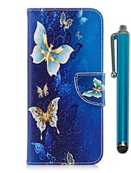 cheap -Case For LG LG K10 (2017) / LG K8 / LG K7 Wallet / Card Holder / with Stand Full Body Cases Butterfly Hard PU Leather