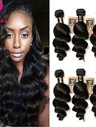 Недорогие -6 Связок Бразильские волосы Свободные волны Не подвергавшиеся окрашиванию Человека ткет Волосы Ткет человеческих волос Расширения человеческих волос / 10A