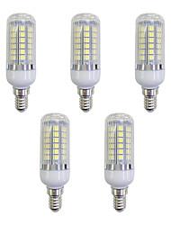 cheap -5pcs 5 W LED Corn Lights 420 lm E12 / E14 48 LED Beads SMD 5050 LED Light White 220-240 V