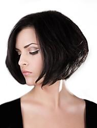 cheap -Human Hair Blend Wig Straight Bob Short Hairstyles 2020 Straight Natural Hairline Machine Made Natural Black #1B Medium Auburn#30 Medium Auburn / Bleach Blonde 12 inch