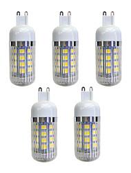 cheap -5pcs 4.5 W 380 lm G9 36 LED Beads SMD 5050 LED Light Warm White 220-240 V