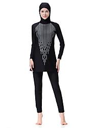 abordables -Femme Basique Bohème Licou Noir Marine Fuchsia Burkini Maillots de Bain - Bloc de Couleur XL XXL XXXL Noir