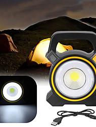 Недорогие -Прожекторы Портативное освещение Светодиоды на солнечной батарее Аварийное освещение за пластик на открытом воздухе Походы Желтый Темно-серый