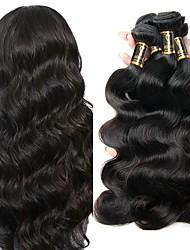 cheap -4 Bundles Peruvian Hair Body Wave Virgin Human Hair Natural Color Hair Weaves / Hair Bulk Human Hair Weaves 8a Human Hair Extensions / 10A