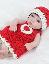 cheap -NPKCOLLECTION NPK DOLL Reborn Doll Girl Doll Baby Girl 12 inch Full Body Silicone Silicone Vinyl - lifelike Cute Hand Made Child Safe Non Toxic Lovely Kid's Girls' Toy Gift / Parent-Child Interaction