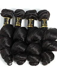 Недорогие -4 Связки Малазийские волосы Свободные волны Натуральные волосы Человека ткет Волосы Ткет человеческих волос Расширения человеческих волос / 8A