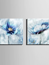 cheap -Stretched Canvas Prints Modern, Two Panels Canvas Square Print Wall Decor Home Decoration