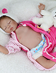 cheap -NPKCOLLECTION NPK DOLL Reborn Doll Baby & Toddler Toy Baby Reborn Baby Doll 22 inch Silicone - lifelike Cute Hand Made Child Safe Non Toxic Lovely Kid's Toy Gift / Parent-Child Interaction