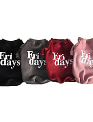 cheap -Dogs Sweatshirt Dog Clothes Quotes & Sayings Red Pink Black Cotton Costume For Winter Men's Casual / Daily