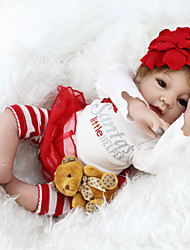 cheap -NPKCOLLECTION 22 inch Reborn Doll Baby Reborn Baby Doll lifelike Cute Hand Made Child Safe Non Toxic Cloth 3/4 Silicone Limbs and Cotton Filled Body 55cm with Clothes and Accessories for Girls
