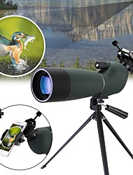 cheap -20-60 X 60 mm Monocular Spotting Scope Porro Zoomable Night Vision in Low Light High Definition Compact Fully Multi-coated BAK4 Camping / Hiking Hunting Fishing Rubber silicon Waterproof Fabric / Yes
