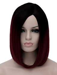 cheap -Cosplay Costume Wig Synthetic Wig Cosplay Wig Lolita Wig Short Dark Wine Synthetic Hair Women's Red