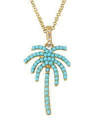 cheap -Women's Pendant Necklace Coconut Tree Simple Basic Imitation Tourmaline Alloy Gold Necklace Jewelry For Daily Date