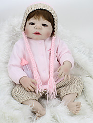 cheap -NPK DOLL 22 inch Reborn Doll Baby Reborn Baby Doll lifelike Cute Hand Made Child Safe Non Toxic 55cm with Clothes and Accessories for Girls' Birthday and Festival Gifts / Kid's / Lovely