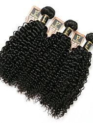 cheap -3 Bundles Hair Weaves Brazilian Hair Kinky Curly Human Hair Extensions Remy Human Hair 100% Remy Hair Weave Bundles 300 g Natural Color Hair Weaves / Hair Bulk Human Hair Extensions 8-28 inch Natural