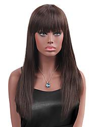 cheap -maysu natural bangs prevailing long straight hair synthetic wig