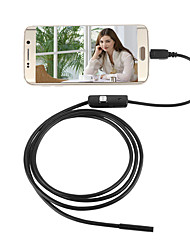 cheap -2in1 Android&PC 7.0mm Lens HD Endoscope 6 LED IP67 Waterproof Inspection Borescope 2m Long Hard Wire
