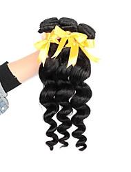 cheap -3 Bundles Brazilian Hair Loose Wave Virgin Human Hair Natural Color Hair Weaves / Hair Bulk Human Hair Weaves Human Hair Extensions / 10A